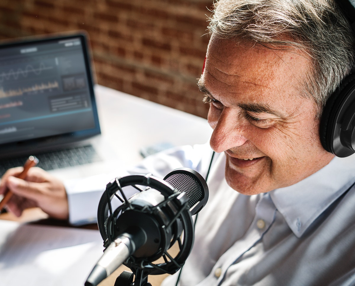 Aged broadcaster lives in a studio