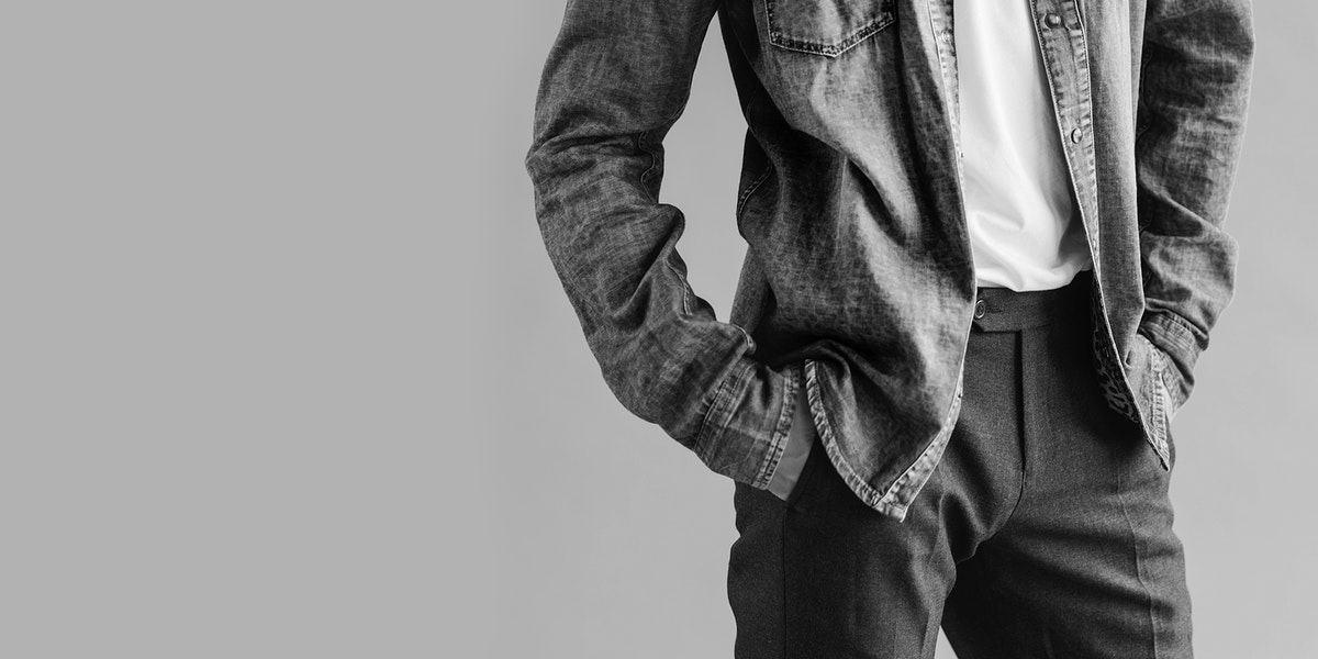 Casual man in a white tee social banner
