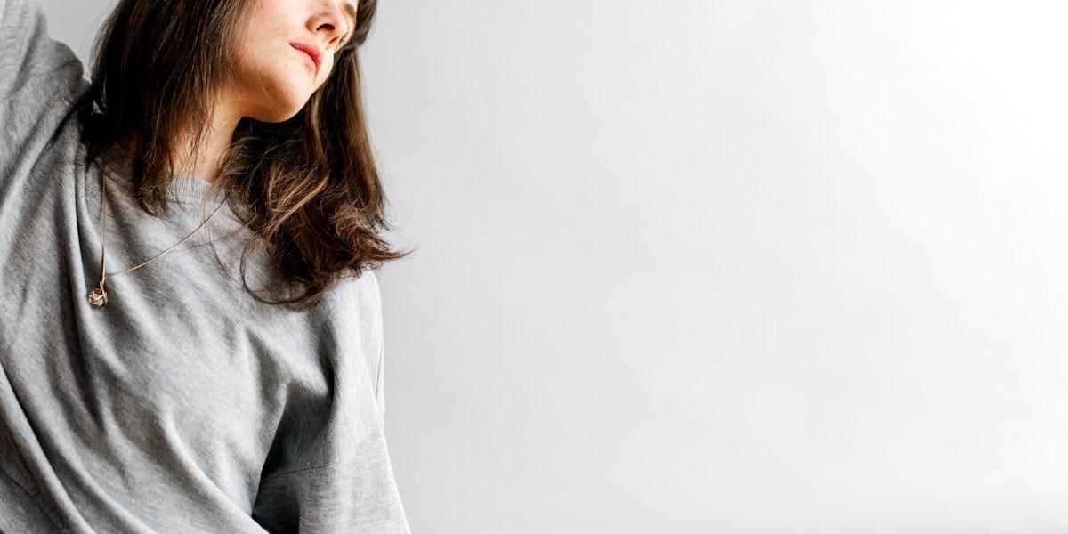 Casual woman in a fashion shoot social banner