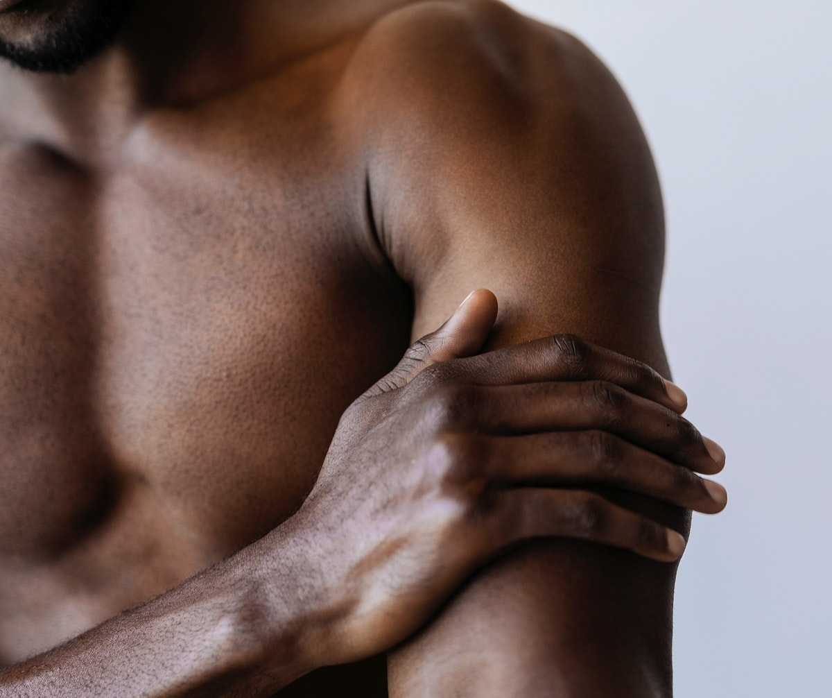 Man having a sore arm social template