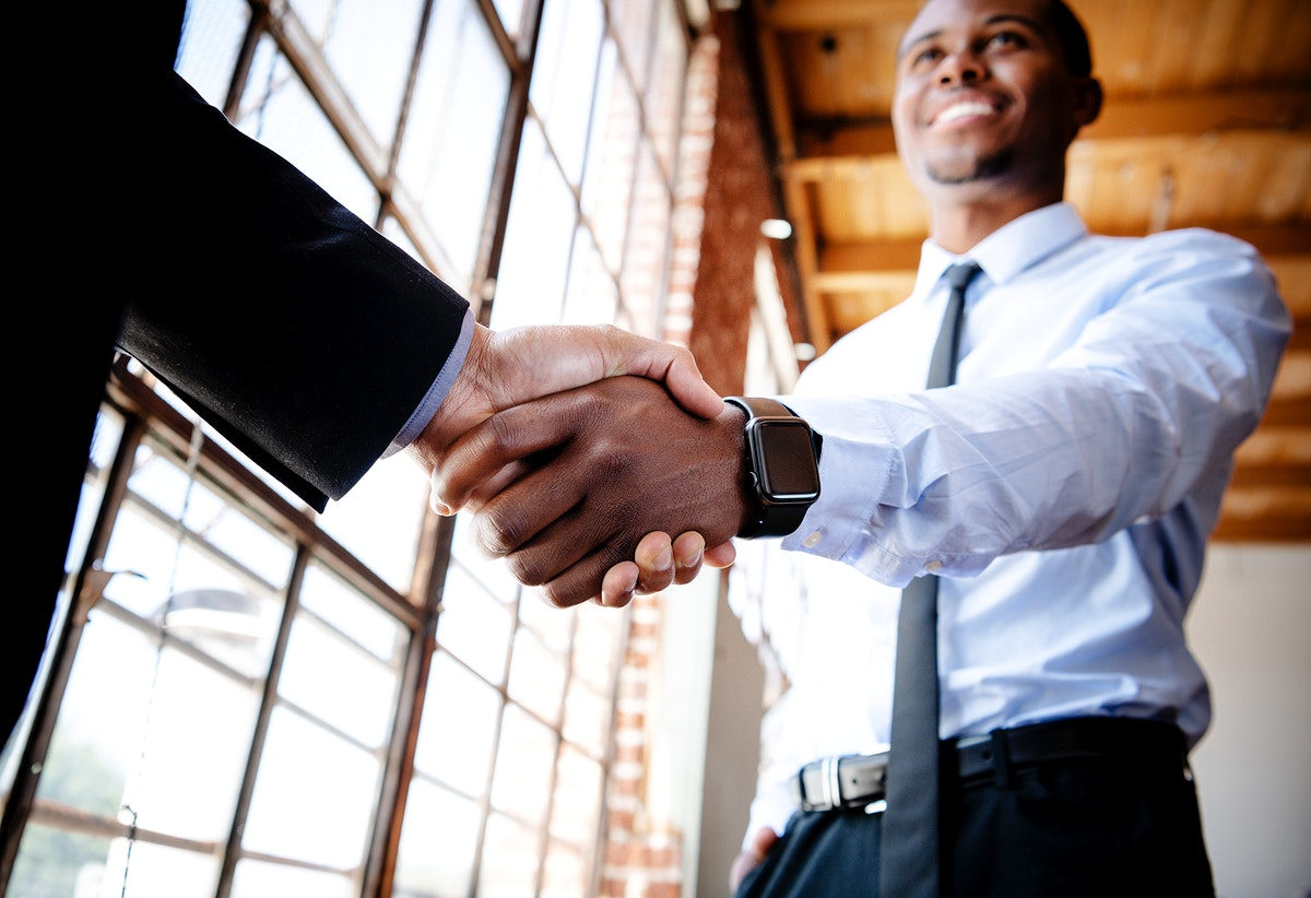 Business people making an agreement