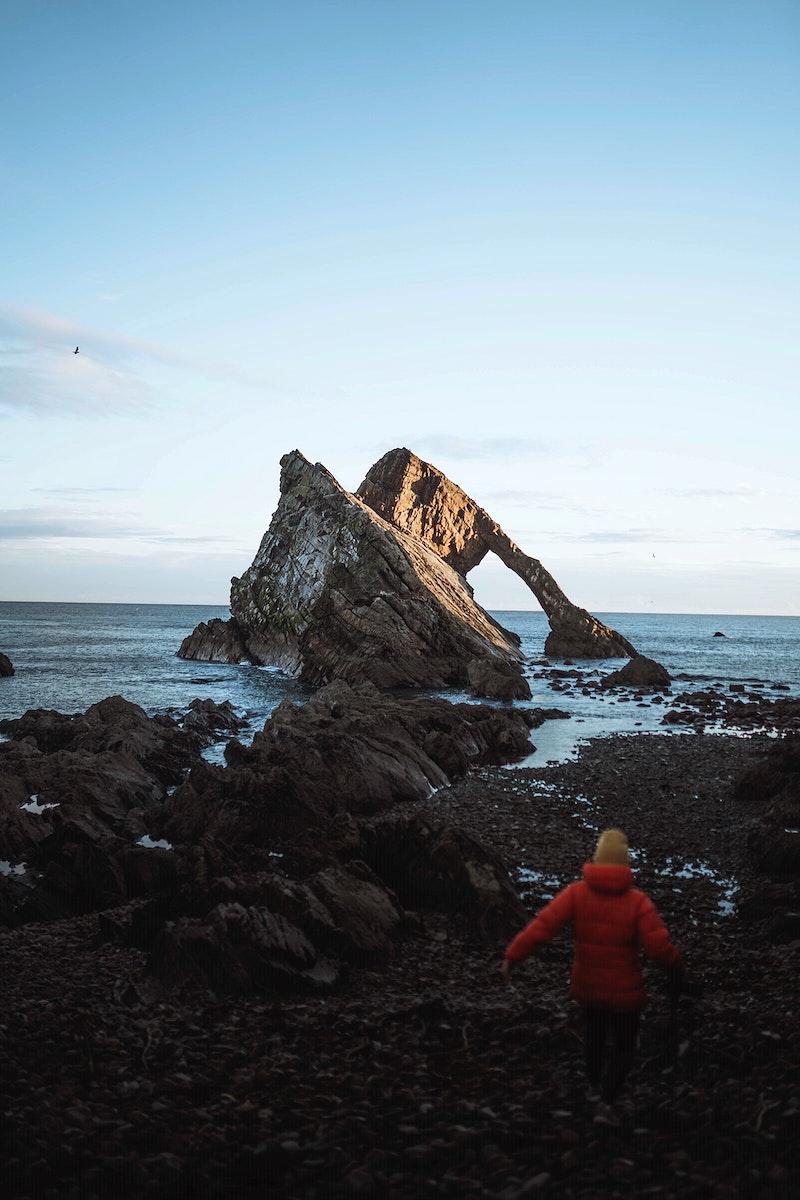 Bow Fiddle Rock, scenic spot in Scotland