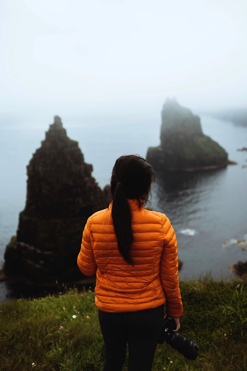 View of Duncansby Sea Stacks in Scotland