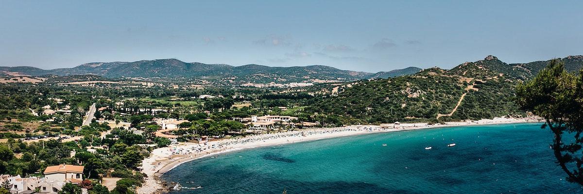 Beautiful beach on the Sardinian coast, Italy