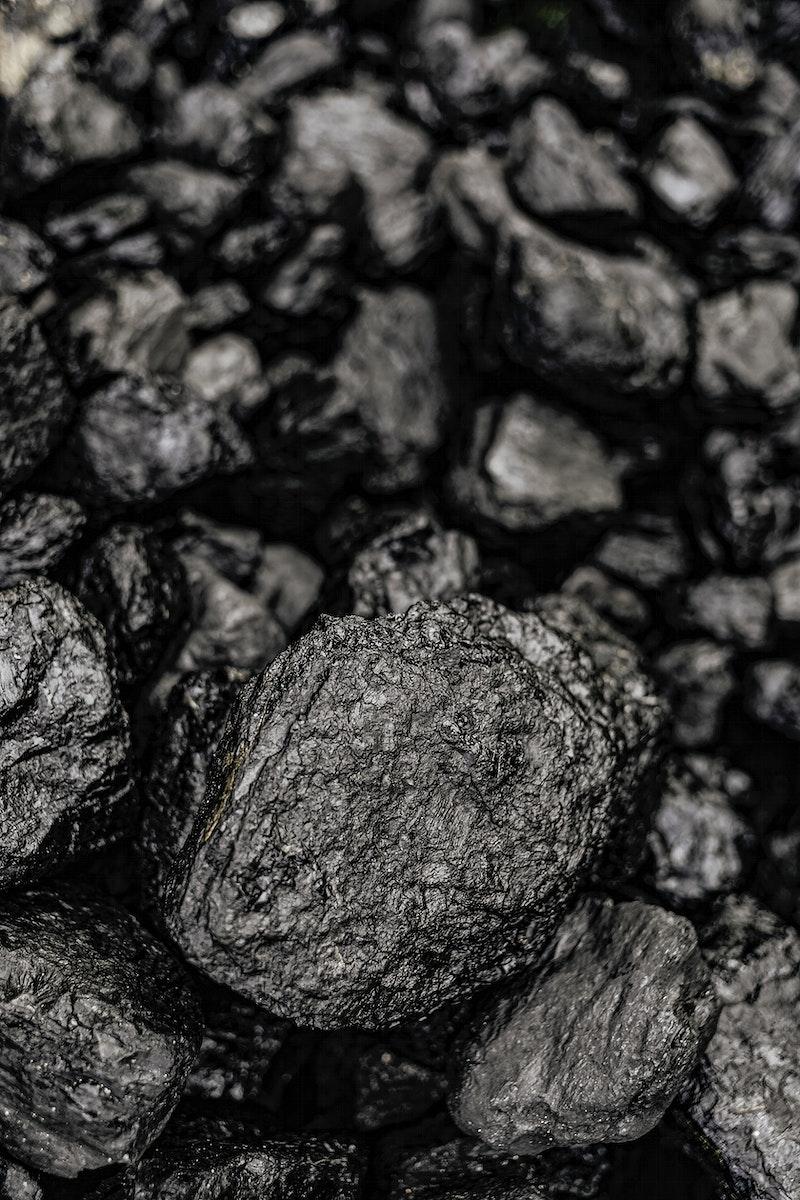 Black pebbles macro shot background