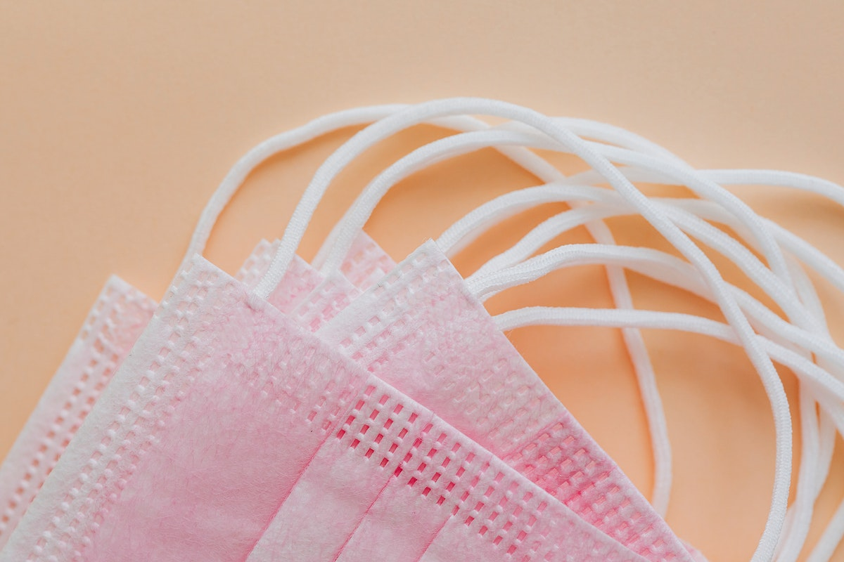 Pink surgical mask collection