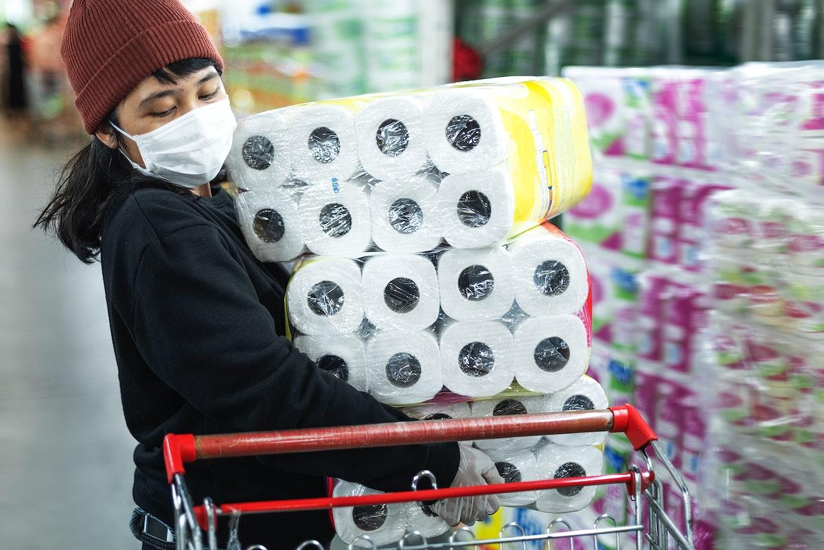 Panic-buying toilet paper during coronavirus epidemic