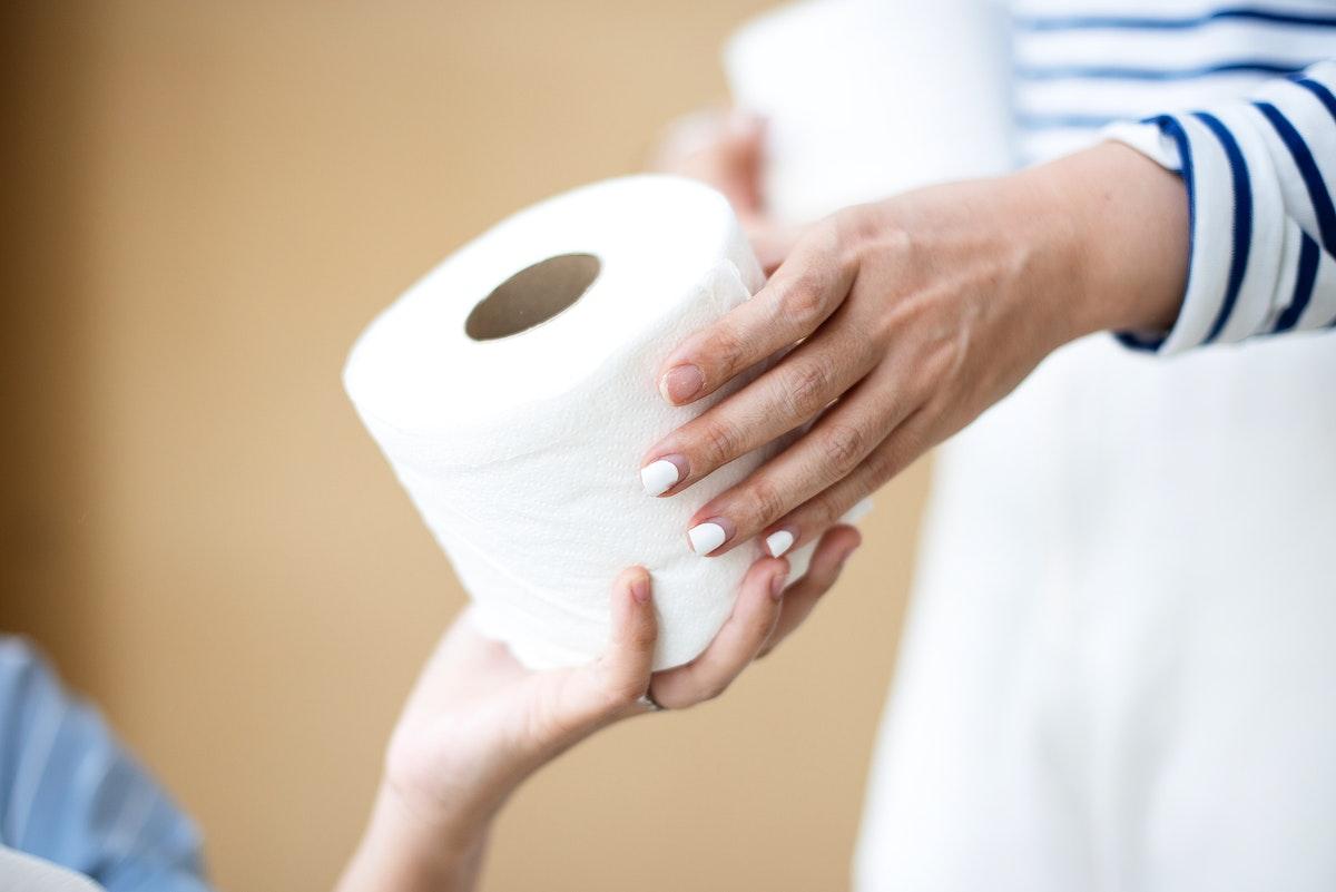 Sharing toilet paper during coronavirus pandemic