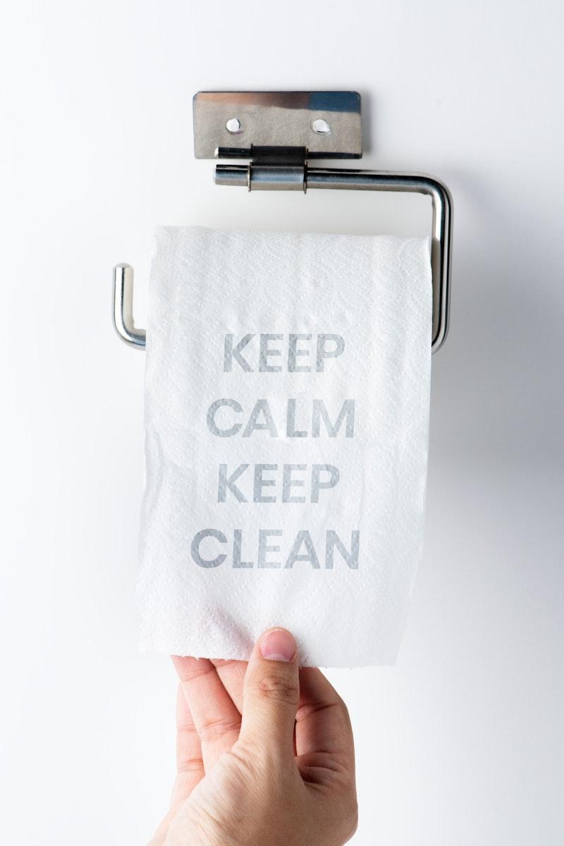 Keep calm keep clean during the global covid-19 pandemic