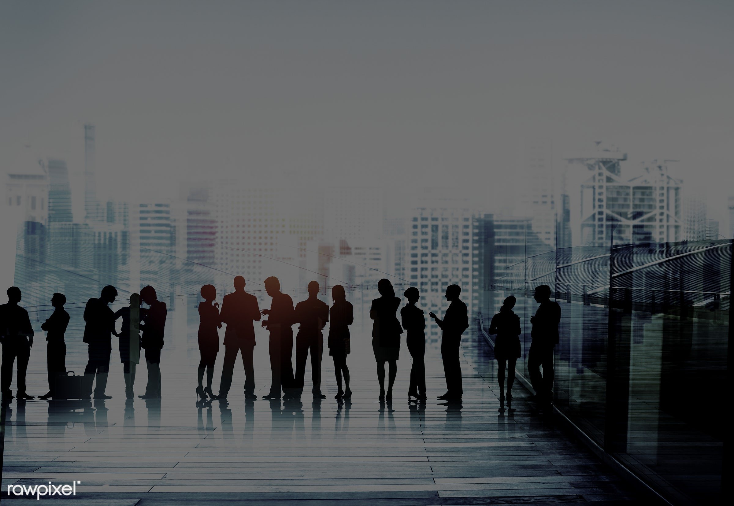 Large group of business people - administration, brainstorming, building, business, business people, businessmen,...