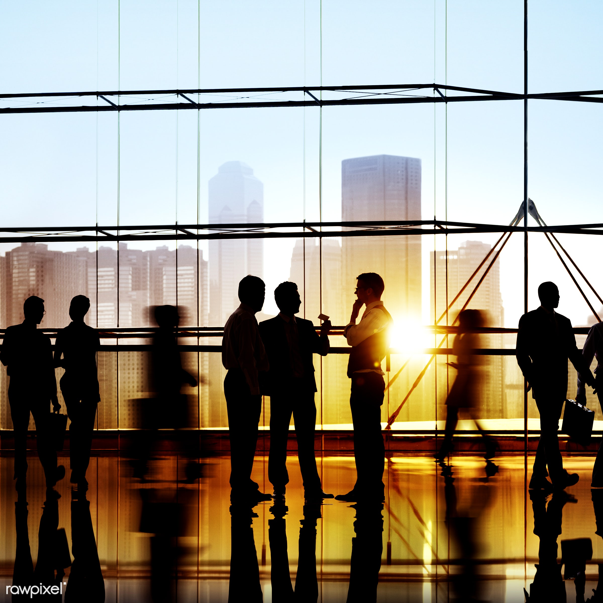 Large group of business people - administration, backlit, board room, brainstorming, building, business, business people,...