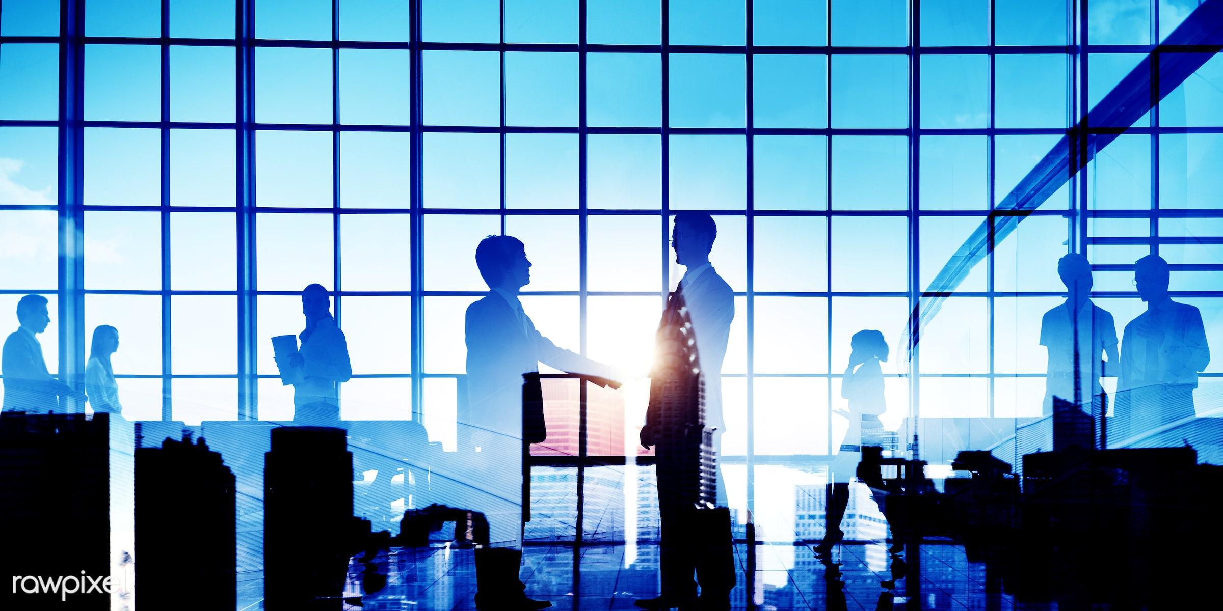 backlit, building, business, business people, businessmen, businesswomen, city, cityscape, colleague, communication,...