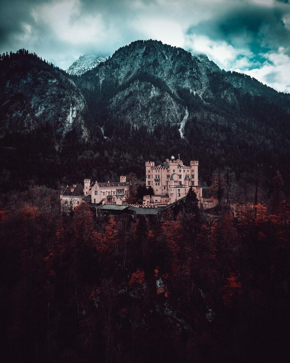 View of Hohenschwangau Castle in Bavaria, Germany