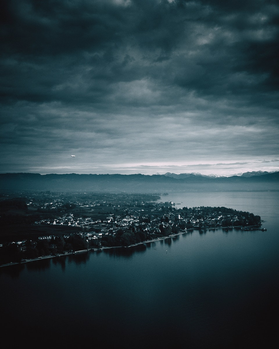 Aerial view of Lake Constance, Germany