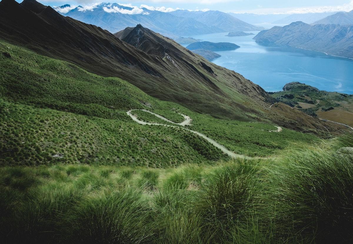 Hills of Roys Peak in New Zealand