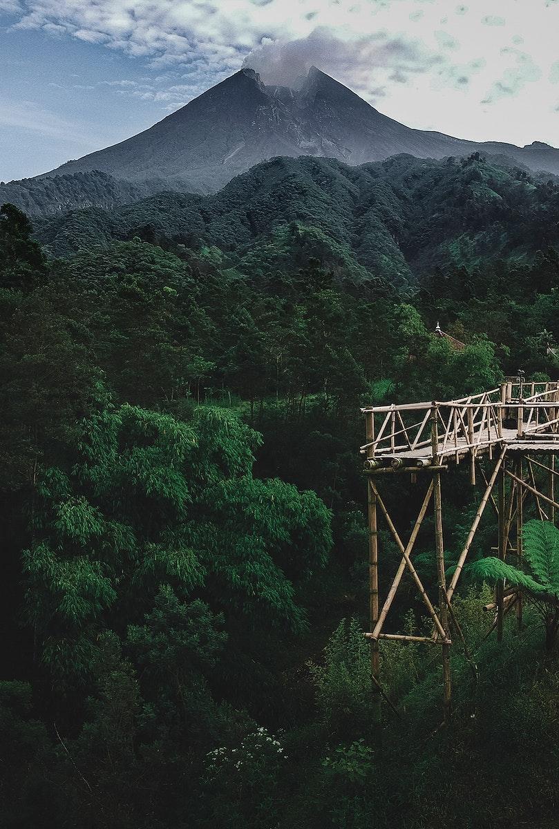 View of Merapi volcano, Indonesia