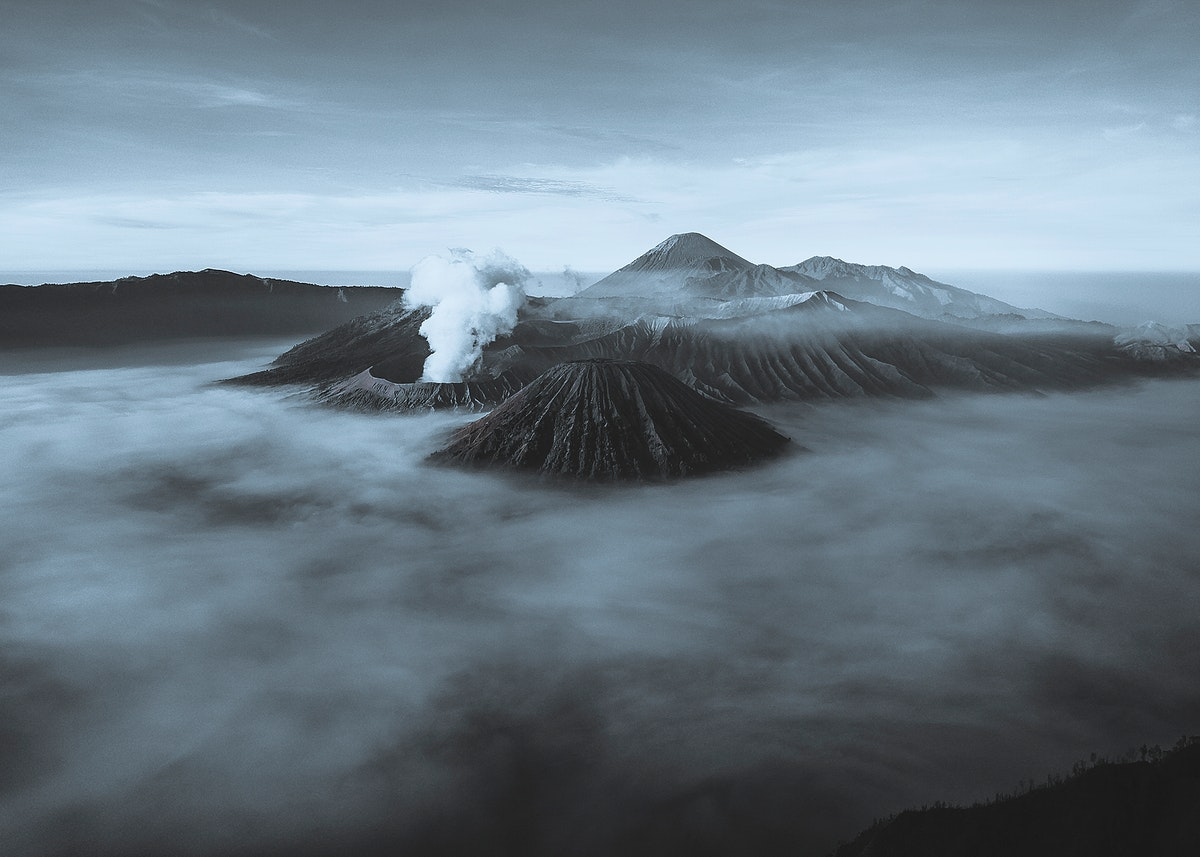 Mount Bromo and volcanoes in Indonesia
