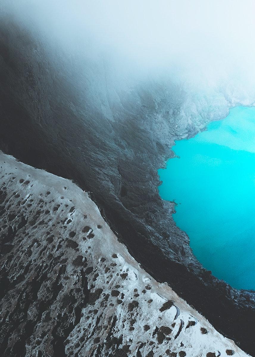 Crater of Ijen volcano, Indonesia