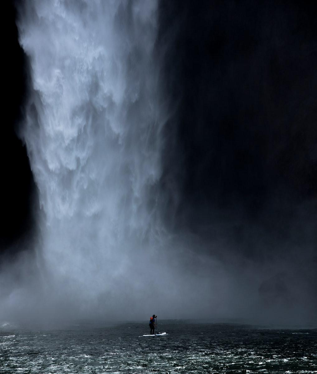 Beautiful view of Snoqualmie Falls in Washington, USA