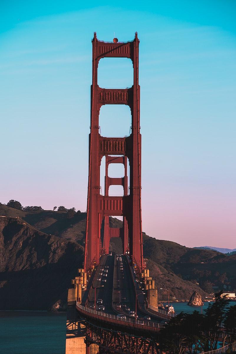 View of the Golden Gate Bridge, San Francisco, United States