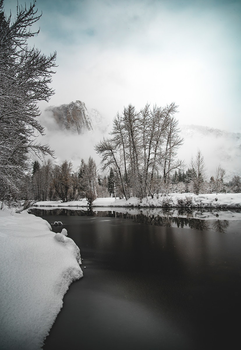 Winter in Yosemite National Park, United States