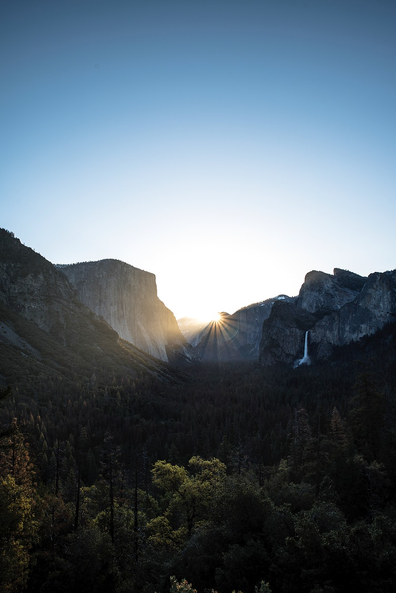 Yosemite Falls in Yosemite National Park, USA