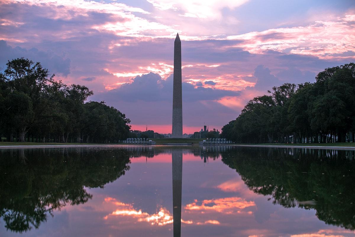 Sunrise at the Washington Monument in DC