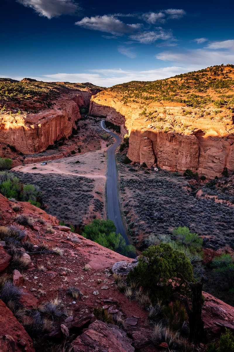 Burr Trail begins at Boulder and winds for 70 miles through some of southern Utah's untamed terrific landscape, Grand…