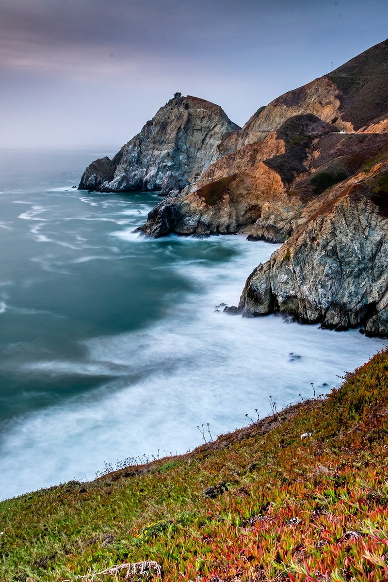 Rain and mist over the McWay Falls Near Big Sur, United States