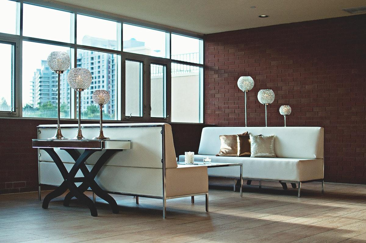 White simple living room interior