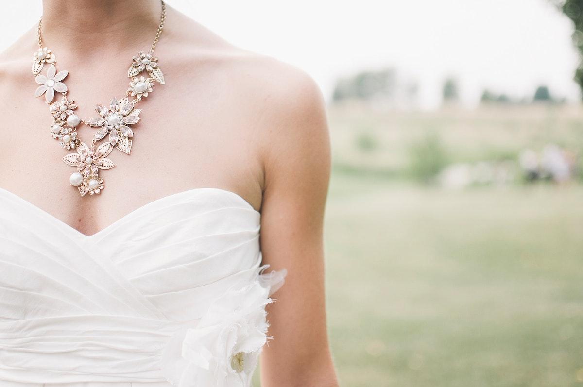 Bride at a wedding ceremony