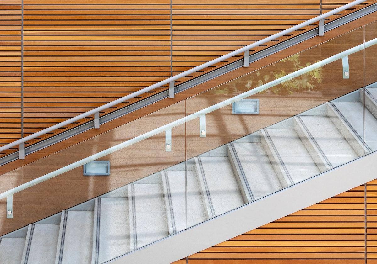 Modern wooden interior design staircase