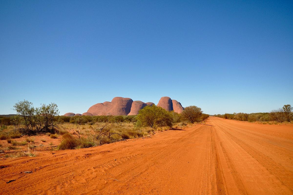 View of Uluru or Ayers Rock, Australia