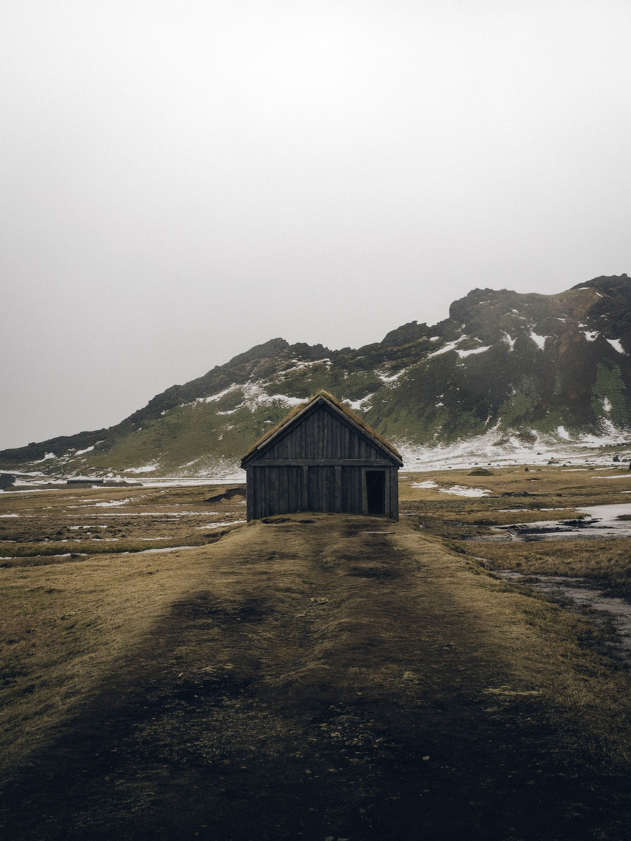 Viking village in the south coast of Iceland