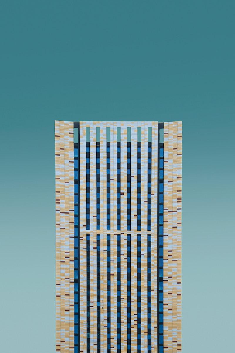 Modern building in Vauxhall, London, United Kingdom