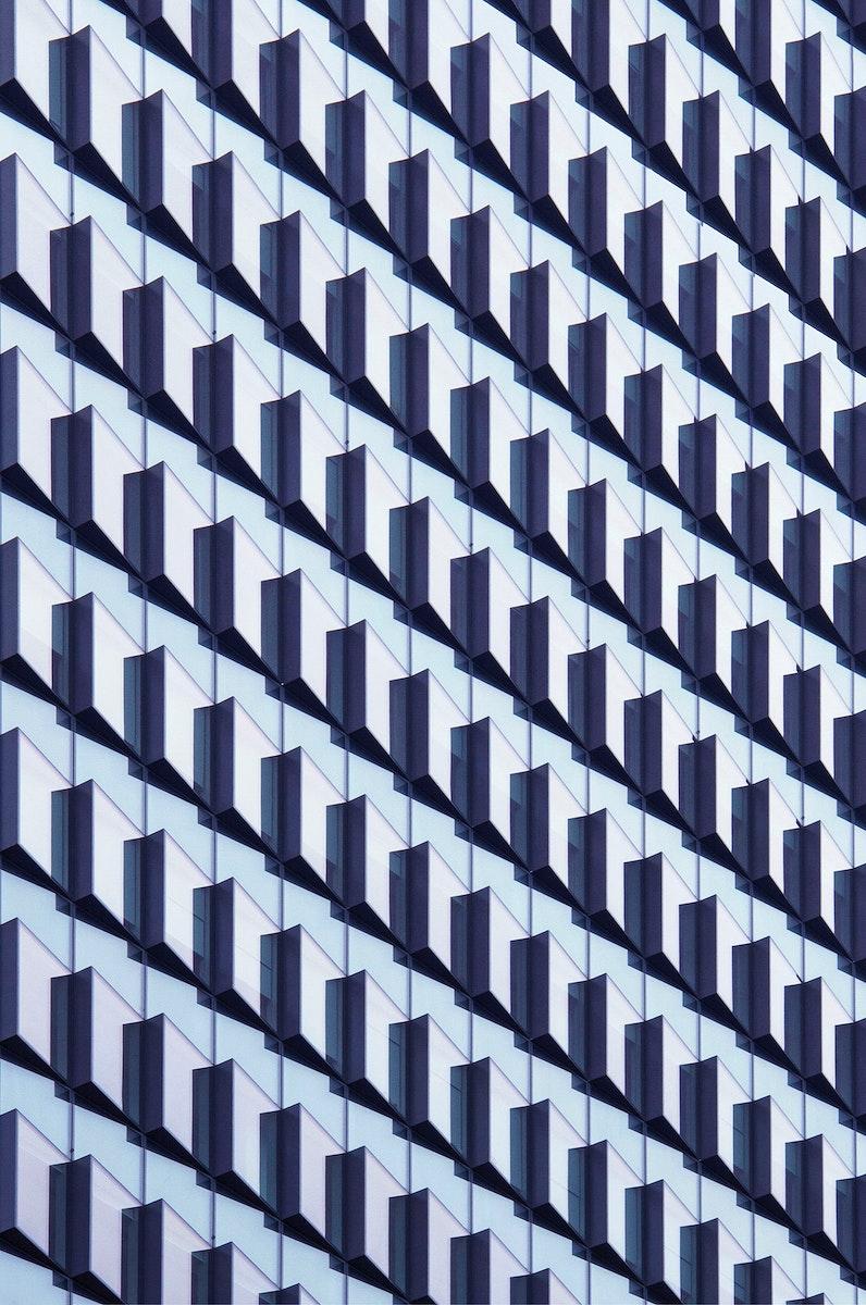 Modern building at Moorgate, London