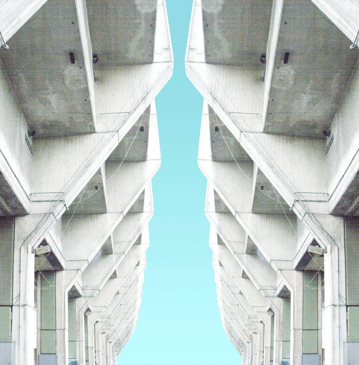 Concrete maze in London, United Kingdom