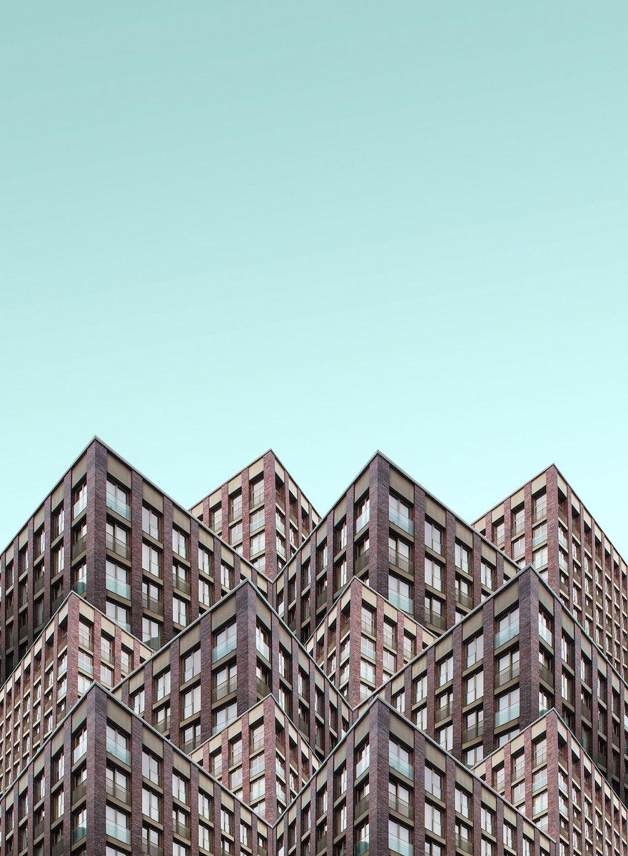Modern buildings in London, United Kingdom