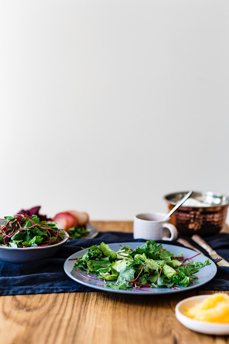 Fresh salad for breakfast. Visit Kaboompics for more free images.