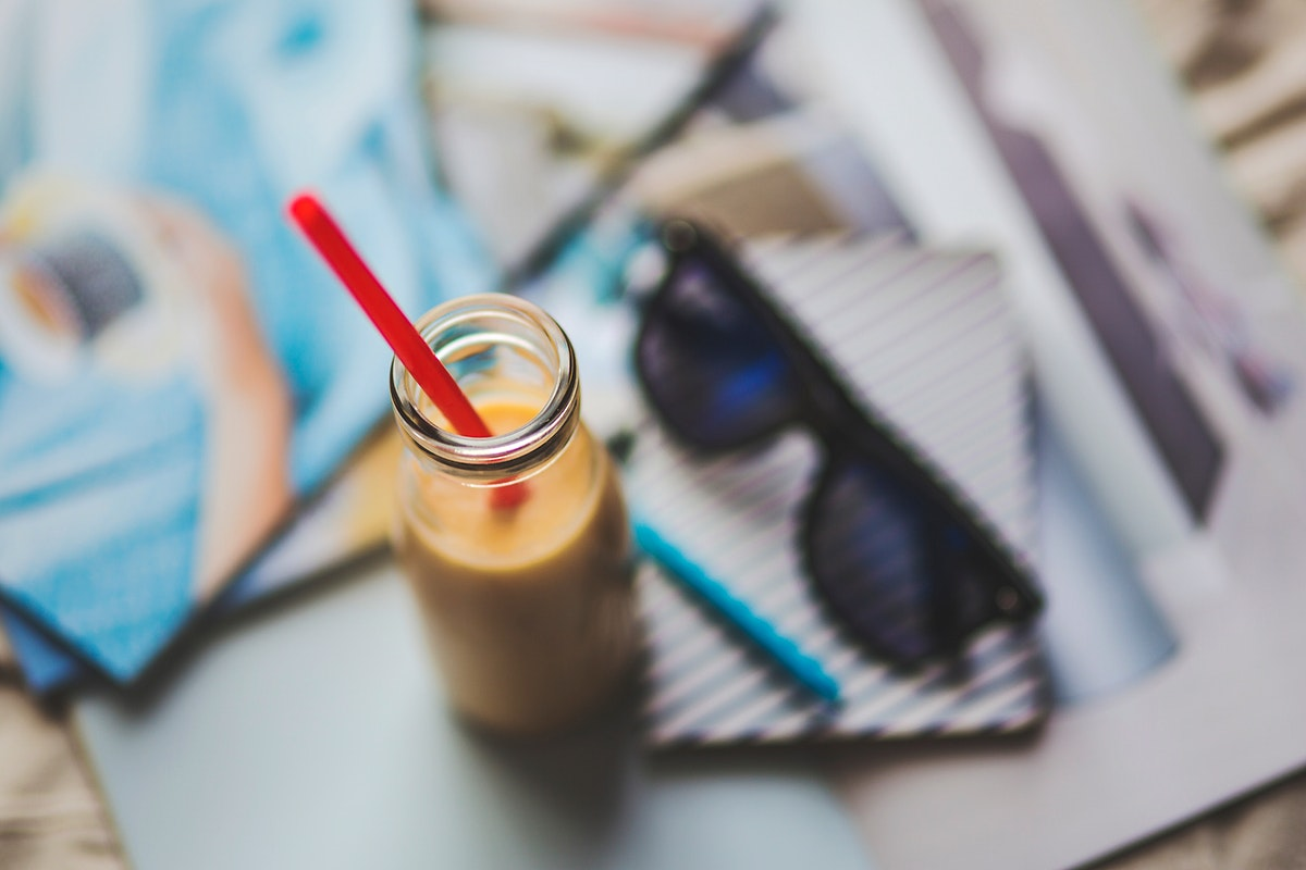 Bottle of cafe latte. Visit Kaboompics for more free images.