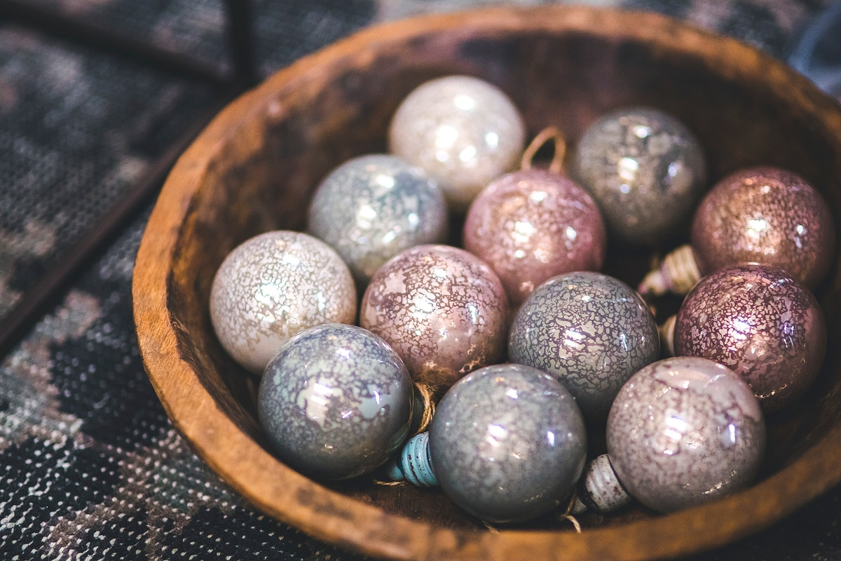 Sparkly Christmas ornaments. Visit Kaboompics for more free images.