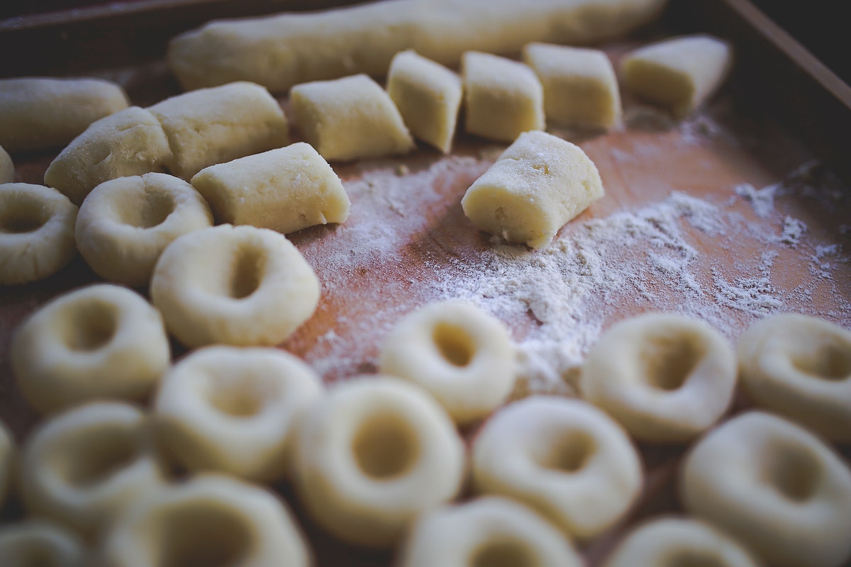 Tray of pastry dough. Visit Kaboompics for more free images.