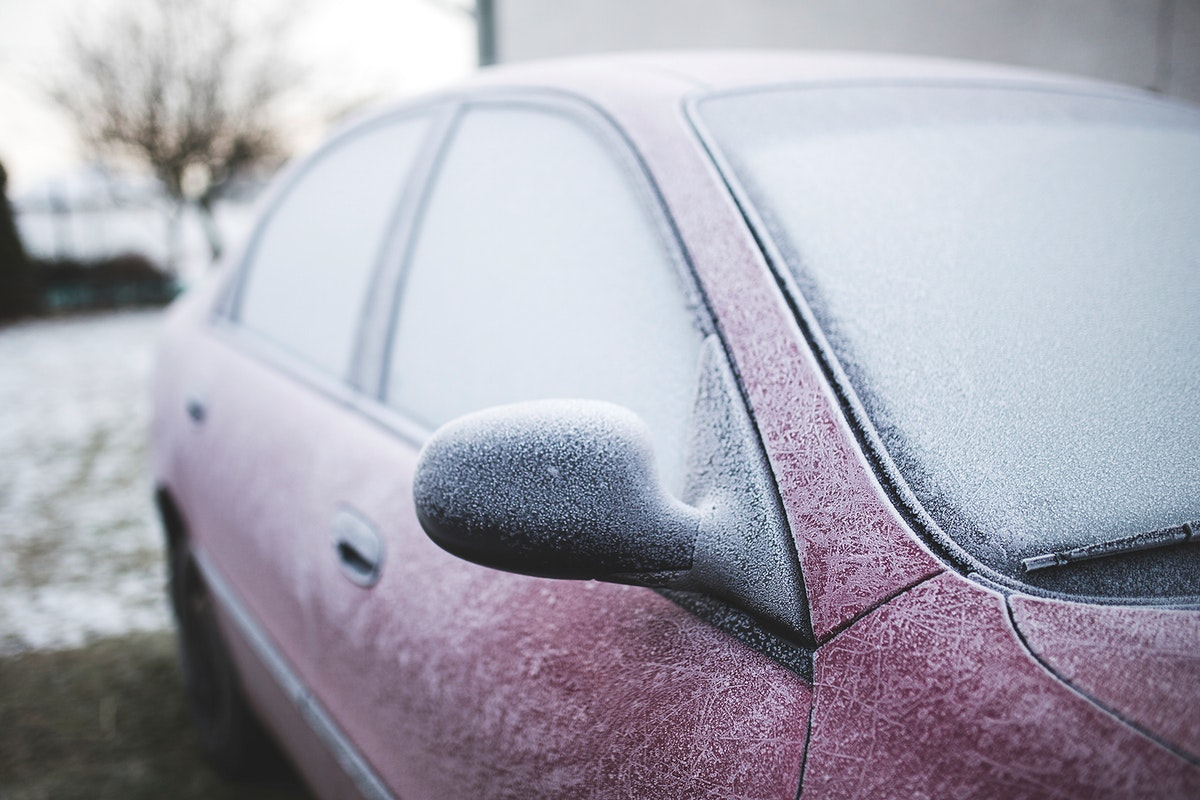 Car covered in frost. Visit Kaboompics for more free images.