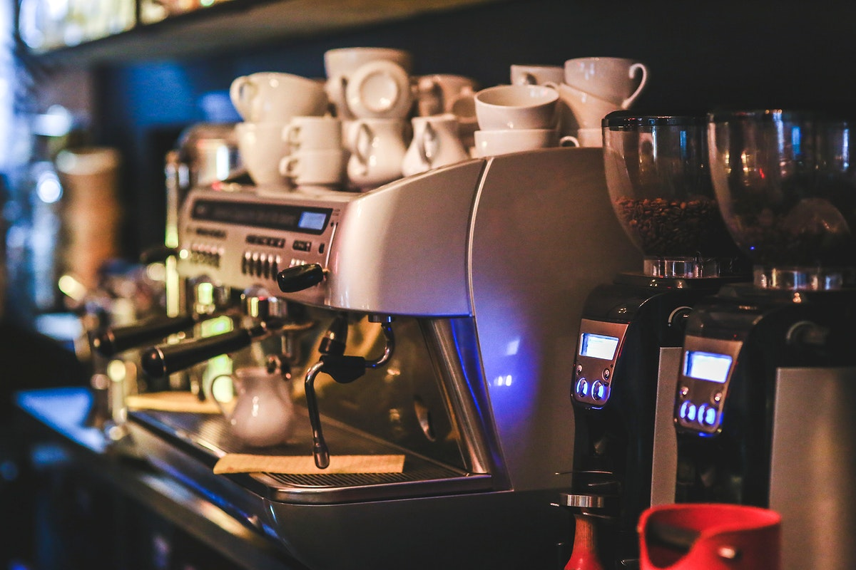 Coffee machine in a cafe. Visit Kaboompics for more free images.
