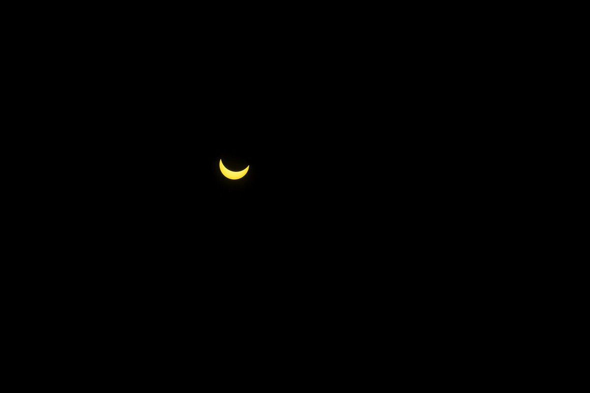 Half moon in the dark sky. Visit Kaboompics for more free images.