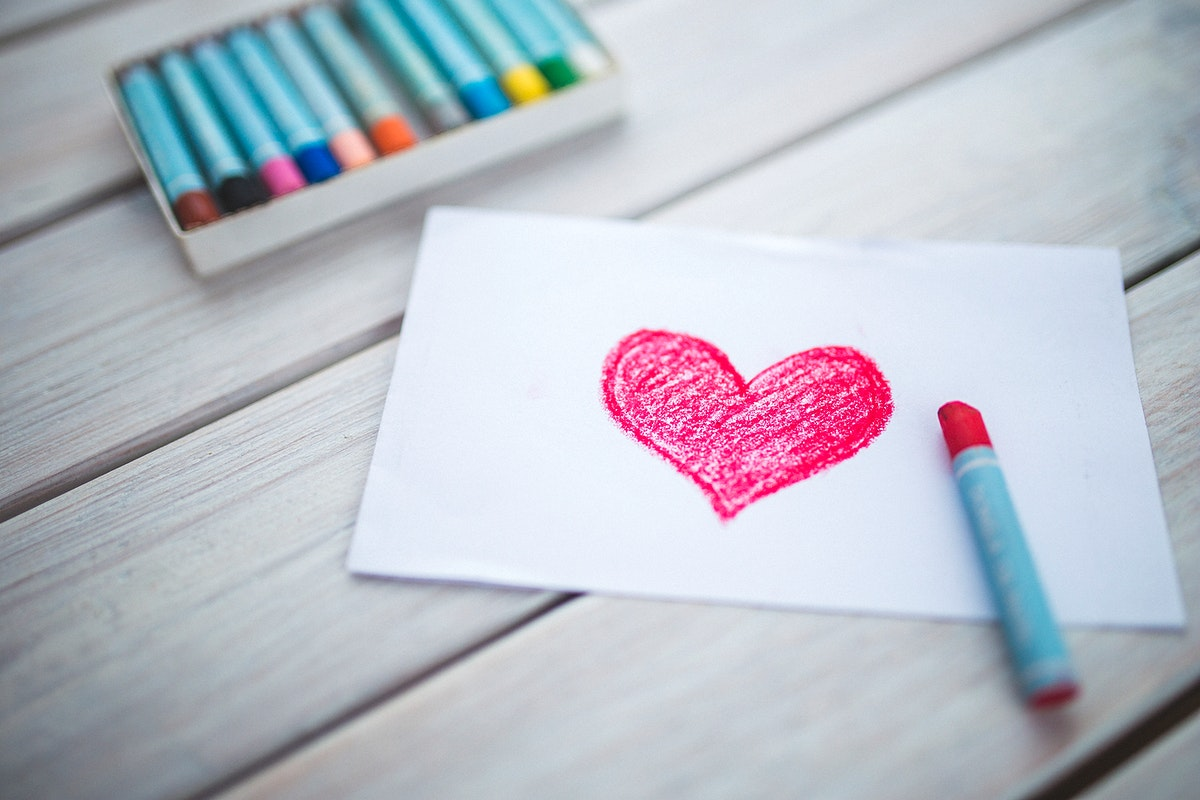 Red heart on a paper. Visit Kaboompics for more free images.
