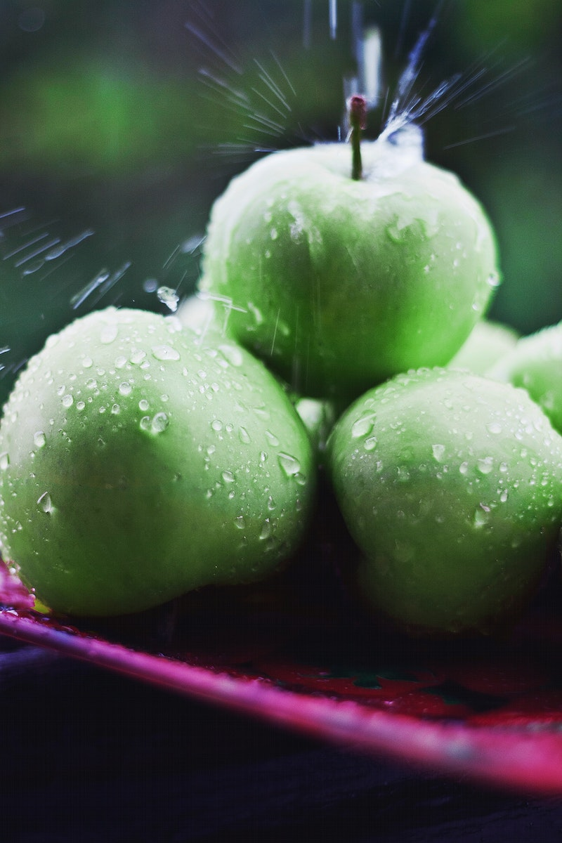 Fresh green apples. Visit Kaboompics for more free images.