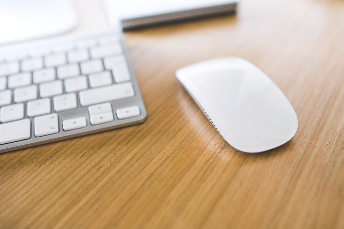 Close up of a keyboard and a mouse. Visit Kaboompics for more free images.