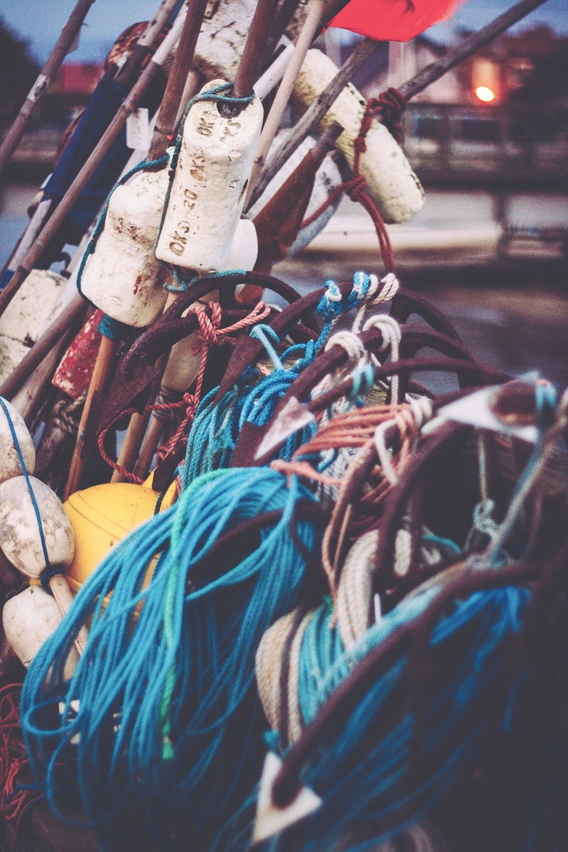 Boating gear at a pier. Visit Kaboompics for more free images.