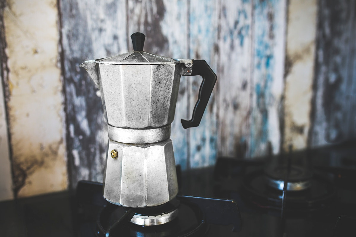 Moka pot in a cafe. Visit Kaboompics for more free images.
